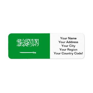 Flag of Saudi Arabia Return Address Label
