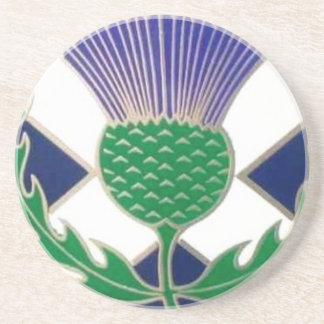 Flag of Scotland and Thistle Coaster