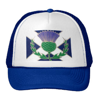 Flag of Scotland and Thistle Trucker Hat