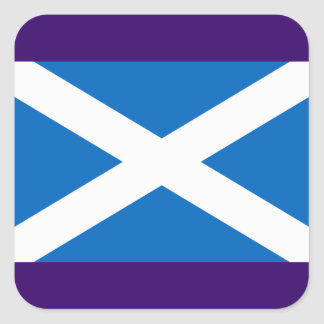 Flag of Scotland - Bratach na h-Alba Square Sticker