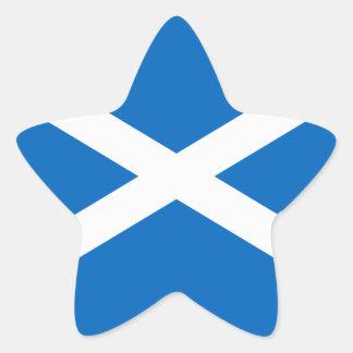 Flag of Scotland - Bratach na h-Alba Star Sticker