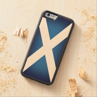 Flag of Scotland Carved Maple iPhone 6 Bumper Case