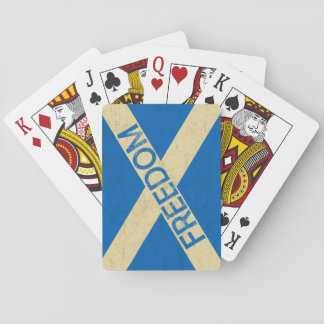 Flag of Scotland Freedom Playing Cards