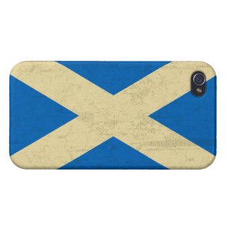 Flag of Scotland Grungy iPhone 4 Cases