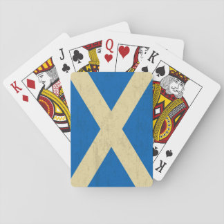 Flag of Scotland Grungy Playing Cards
