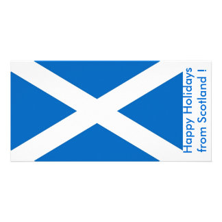 Flag of Scotland, Happy Holidays from U.K. Card
