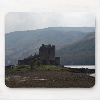 Flag of Scotland in front of Eilean Donan Castle Mousepad