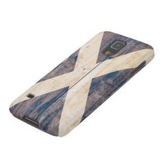 Flag of Scotland on Wood Galaxy S5 Cover