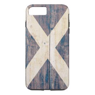 Flag of Scotland on Wood iPhone 8 Plus/7 Plus Case