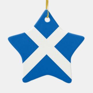 Flag of Scotland or Saltire Ceramic Ornament