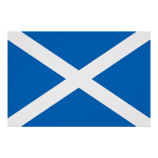 Flag of Scotland or Saltire Poster