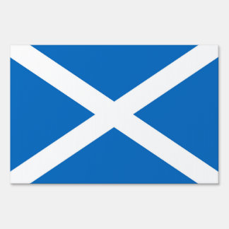 Flag of Scotland or Saltire Sign