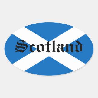 Flag of Scotland Oval Sticker