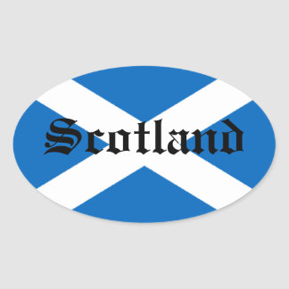 Flag of Scotland Oval Stickers