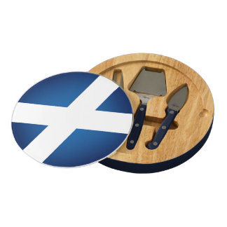 Flag of Scotland Round Cheese Board
