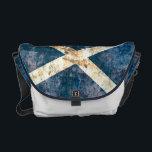 "Flag of Scotland Rickshaw Messenger Bag<br><div class=""desc"">Rickshaw Messenger Bag with distressed flag of Scotland design. Additional accessories available here.</div>"