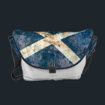 "Flag of Scotland Rickshaw Messenger Bag<br><div class=""desc"">Rickshaw Messenger Bag with distressed flag of Scotland design. Additional accessories available here.</div>"