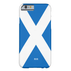 Flag of Scotland Saltire White On Blue St Andrews Barely There iPhone 6 Case at Zazzle