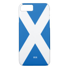 Flag Of Scotland Saltire White On Blue St Andrews Iphone 8/7 Case at Zazzle