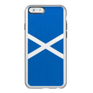 Flag of Scotland Silver iPhone Case