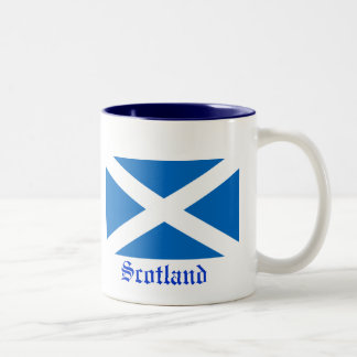 Flag of Scotland Two-Tone Coffee Mug