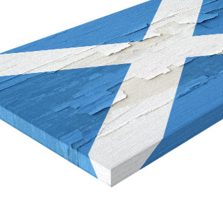 Flag of Scotland Weathered Paint Canvas Print