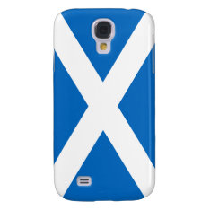 Flag Of Scotland White Cross On Blue Galaxy S4 Samsung S4 Case at Zazzle