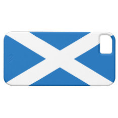 Flag of Scotland White Cross on Blue iPhone 5 Case at Zazzle