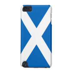 Flag Of Scotland White Cross On Blue Ipod 5g Ipod Touch (5th Generation) Case at Zazzle
