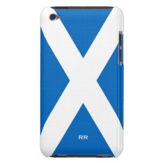 Flag of Scotland White On Blue iPod Touch 4G iPod Touch Case-Mate Case at Zazzle