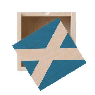 Flag Of Scotland Wooden Keepsake Box