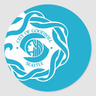 Flag of Seattle Classic Round Sticker