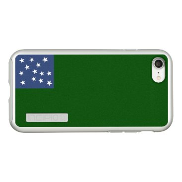 USA Themed Flag of Second Vermont Silver iPhone Case