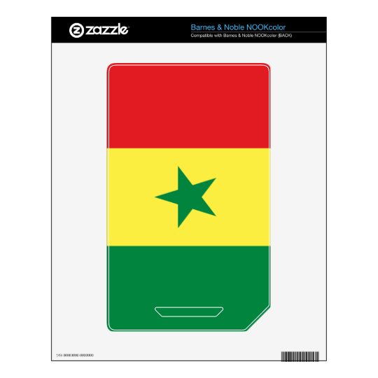 Flag of Senegal Decal For The NOOK Color