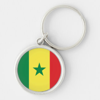 Flag of Senegal Silver-Colored Round Keychain