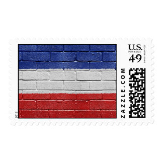 Flag of Serbia and Montenegro Postage Stamp
