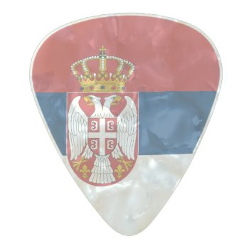 Flag Of Serbia Guitar Picks by Flagosity at Zazzle