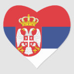 Flag of Serbia Heart Sticker