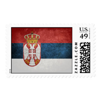 Flag of Serbia Stamp