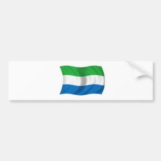 Flag of Sierra Leone Car Bumper Sticker