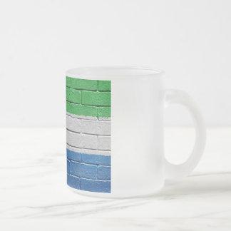 Flag of Sierra Leone Frosted Glass Coffee Mug