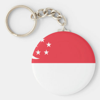 Flag of Singapore -  新加坡国旗 - Bendera Singapura Basic Round Button Keychain