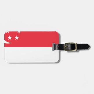 Flag of Singapore -  新加坡国旗 - Bendera Singapura Luggage Tag