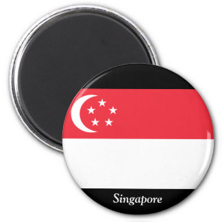 Flag of Singapore 2 Inch Round Magnet