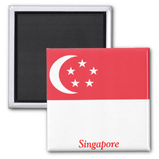 Flag of Singapore 2 Inch Square Magnet