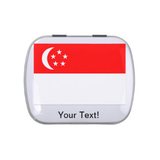 Flag of Singapore Jelly Belly Tins