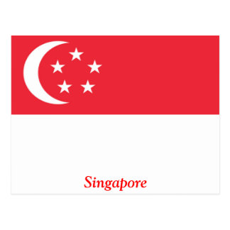 Flag of Singapore Postcard