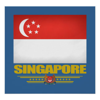 Flag of Singapore Poster