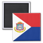Flag of Sint Maarten 2 Inch Square Magnet