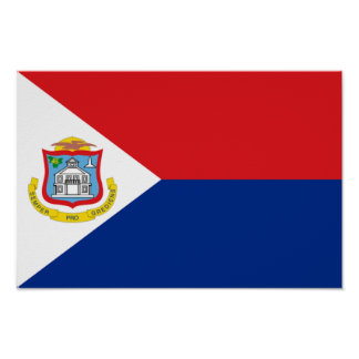 Flag of Sint Maarten Poster